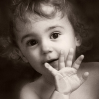 Kinderfotografie in schwarzweiss